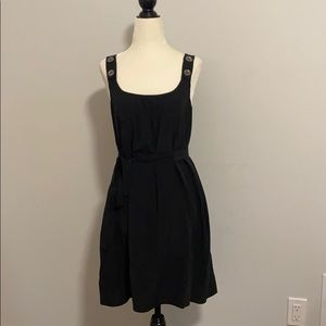 Wilfred Aritzia 100% Silk Black Summer Dress